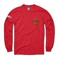Cornell Mascot Long Sleeve T-Shirt (Red)