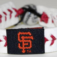 Gamewear MLB Leather Wrist Band - Giants Classic Band