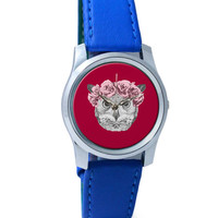 Ms Owl (Red) Illustration Wrist Watch