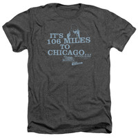 BLUES BROTHERS/CHICAGO - ADULT HEATHER - CHARCOAL - XL - CHARCOAL -