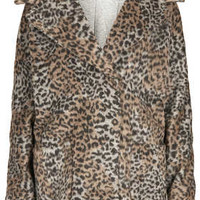 Leopard Print Wool Ovoid Coat - New In This Week  - New In