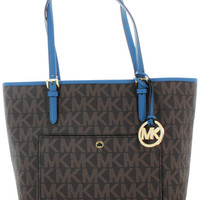 Michael Kors Jet Set Women's Large Monogram Handbag Tote Bag
