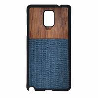 Wood Faux Denim Case Samsung Galaxy Note 4 Case
