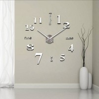 Special Large Watch, Acrylic Mirror 3D Clocks and Wall Stickers.