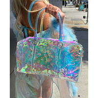 Clear Holographic Mini Duffel
