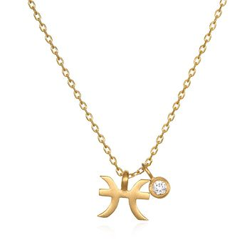 The AstroTwins Pisces Zodiac Necklace