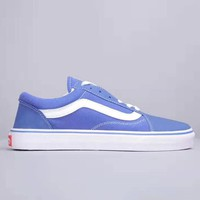 Vans New fashion couple low help shoes Blue