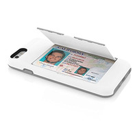 The White and Gray Credit Card STOWAWAY Case for iPhone 6/6s