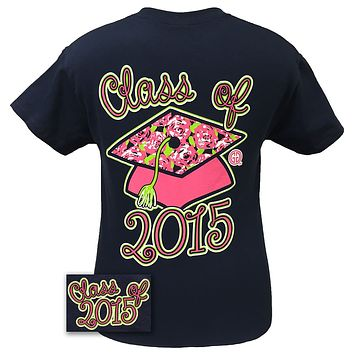 Girlie Girl Originals Preppy Class Of 2015 Senior Graduation Graduate Bright T Shirt