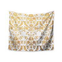 "KESS Original ""Baroque Gold"" Abstract Floral Wall Tapestry"