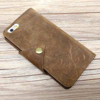Samsung Galaxy S6 Edge Case, Galaxy Note 5 Case, Leather Samsung S6 Edgwe Plus Case, Snap Clip Wallet Case, Personalized Men Gift, G488