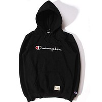 Champion Trending Women Men Stylish Embroidery Long Sleeve Hoodie Sweater Top Sweatshirt