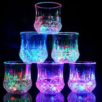 LED Glowing Mug Water liquid Inductive Light-up Drink Wine Glass Cup Stylish Cool Multi Glow