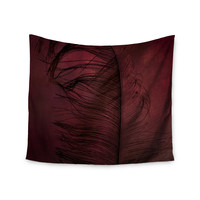 "Robin Dickinson ""Plumtickled"" Maroon Red Wall Tapestry"
