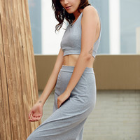 Gray Two-Piece Sleeveless Dress 10123