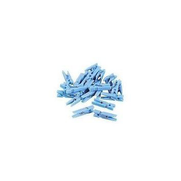 "48 pc Mini Blue Clothes Pins 1.25"" Clothespin Game Wedding Baby Shower"