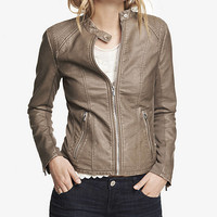 (MINUS THE) LEATHER DOUBLE PEPLUM MOTO JACKET from EXPRESS