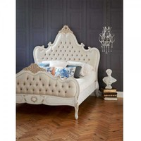 Palais Button Upholstered Bed | Luxurious French bed