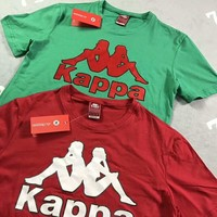 KAPPA Fashion Women Men Loose Big Logo Print Short Sleeve T-Shirt Top I-AG-CLWM