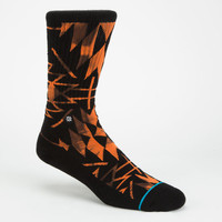 Stance Stargate Mens Athletic Socks Orange One Size For Men 25857470001
