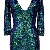 Emerald City Dress | Green Glitter Sequin Long-Sleeve Dresses | RicketyRack.com