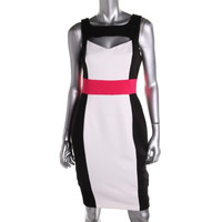 Bailey 44 Womens Doll Face Ponte Colorblock Cocktail Dress