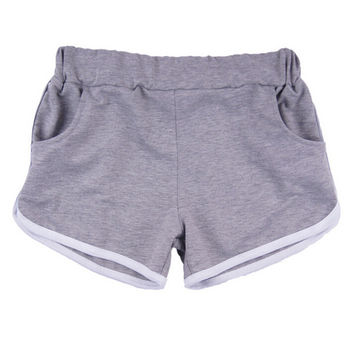 Candy-Colored Wide Leg Sports Shorts