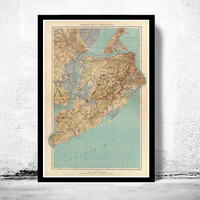 Old Map of Staten Island, Richmond County  1891