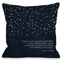 """""""Fearful Of The Night"""" Outdoor Throw Pillow by Cheryl Overton, 16""""x16"""""""