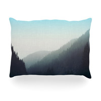 "Leah Flores ""Wilderness"" Mountain Range Oblong Pillow"