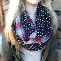 Plaid and Polka Dot Scarves