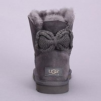 Tagre™ UGG Fashion Women Bow Fur Leather Wool Snow Boots In Tube Boots Shoes