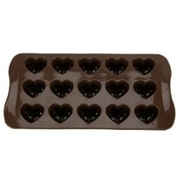 Heart-shape Silicone Ice Chocolate Cake Jelly Candy Mould Mini Tray Pan Cube (1pcs)