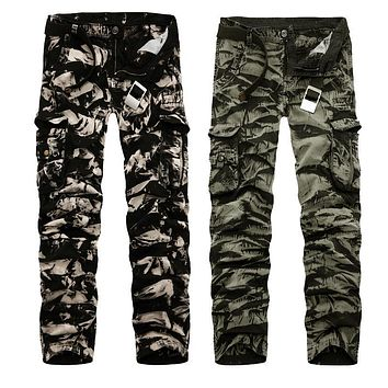 Joggers Pants 2017 New Men's Cargo Pants Military Style Casual Cotton Camouflage Trousers Military Clothing