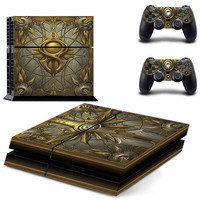 Diablo 3 Book of cain PS4 decal for console and controllers skin sticker