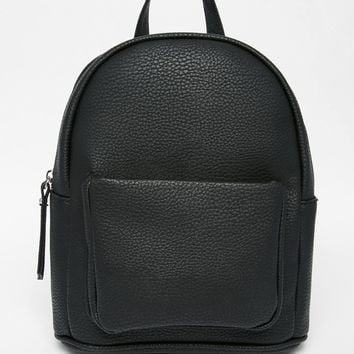 New Look Mini Curved Backpack at asos.com