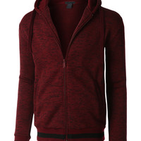 LE3NO Mens Soft Fleece Full Zip Up Hoodie Sweatshirt with Pockets (CLEARANCE)