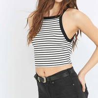 Urban Outfitters Cropped Striped Tank Top - Urban Outfitters