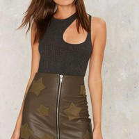 On a Mission Vegan Leather Skirt