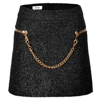 Moschino - Boucle Skirt with Chainlink Trim