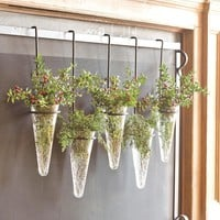 Set of 5 Fireplace Screen Hanging Vases - Plow & Hearth