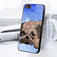 Painting Pug iPhone 5 Or 5S Case