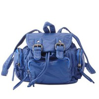 Buckled Mini Bucket Backpack by Charlotte Russe