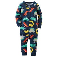 Baby Boy Carter's All-Over Print Coveralls