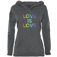 LGBT Gay Pride Love Is Love Womens Pullover Hoodie
