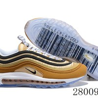 HCXX 19July 1038 Nike Air Max 97 Unboxed 921826-201 Retro Flyknit Breathable Running Shoes