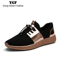 Mens Shoes Casual 2016 Fashion Air Mesh Glossy Gold Adults Mens Trainers Outdoor Breathable Lace-up Lightweight Shoes Unisex