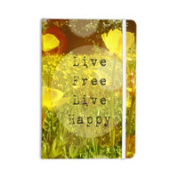 "Alison Coxon ""Live Free"" Yellow Green Everything Notebook"