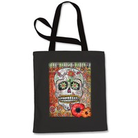 Love Skull Day Of The Dead Shopping Tote Bag