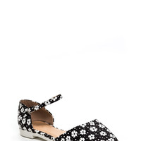 All Purpose Flower Ankle Strap Flats